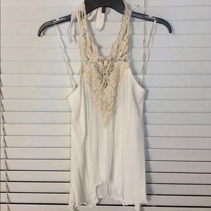 White lace summer top